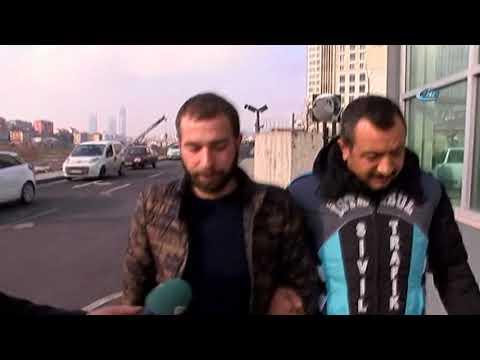 Merdivenlerden Aracı İle İnen Sürücü Gözaltına Alındı