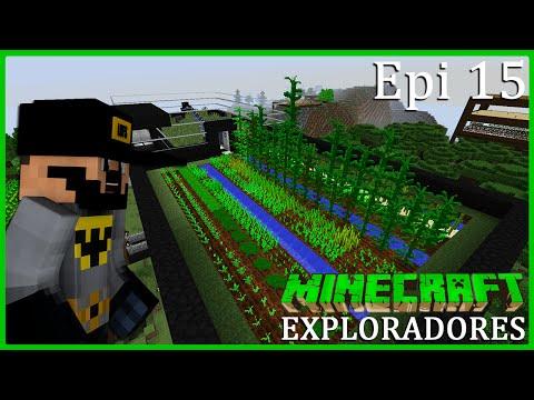 Minecraft EXPLORADORES #15 - PLANTAÇÃO OSTENTADA NA COBERTURA DA BATCAVE