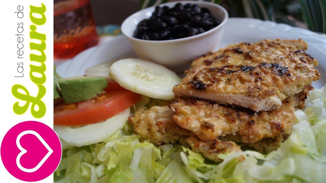 Milanesa de pollo sin fre r las recetas de laura comida for Comidas sanas y economicas