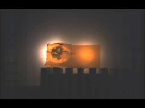 17HMR Federal 17gr Hornady V-Max gelatin Slow Motion