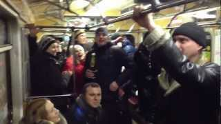 Happy New Year at Kiev Metro