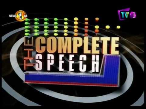 complete speech tv1 |eng