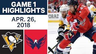 NHL Highlights | Penguins vs. Capitals, Game 1 - Apr. 26, 2018