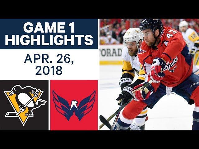 NHL Highlights  Penguins vs. Capitals, Game 1 - Apr. 26, 2018