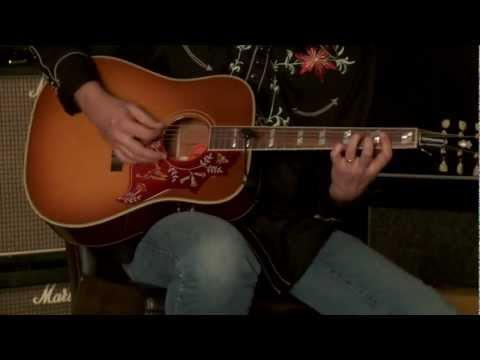 SOLD• Gibson Montana Hummingbird Wildwood New Vintage Hide Glue • SN: 11031044
