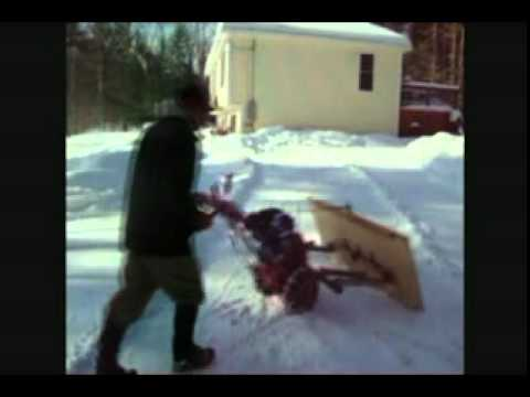 Tiller Snow Plow Homemade Walk Behind Snow Plow