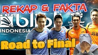 Final Indonesia Open 2019 -  Rekap Marcus/Kevin vs Ahsan/Hendra Road to All Indonesian Final
