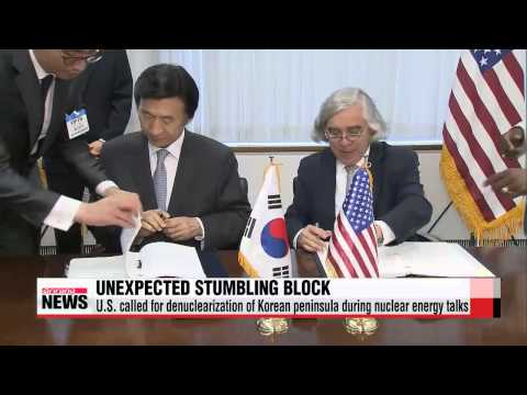 U.S. calls for denuclearization on Korean peninsula during nuclear energy agreem