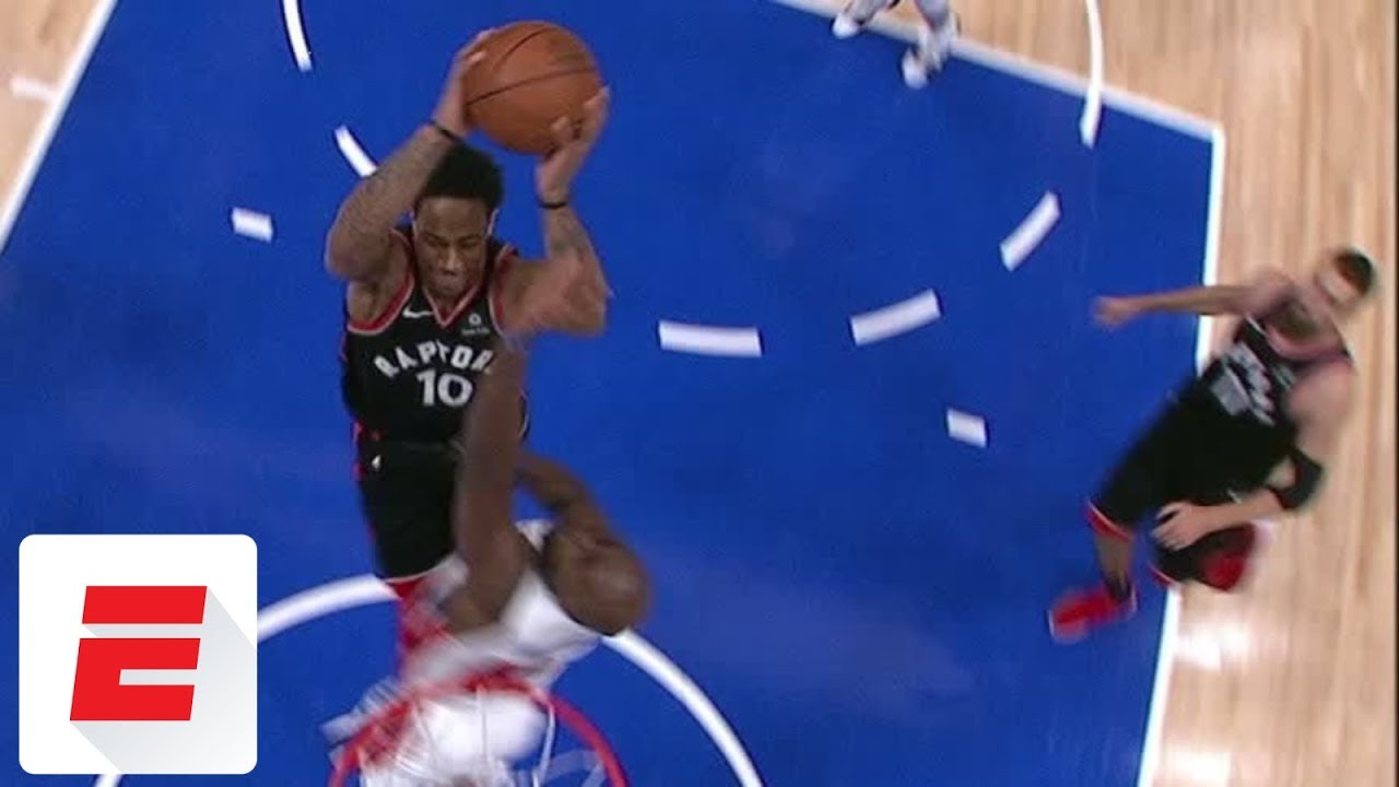 DeMar DeRozan's absurd coast-to-coast dunk/and-1 gives Raptors lead with 4.6 seconds left | ESPN