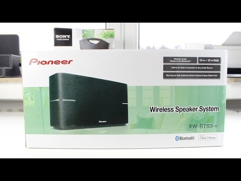 Pioneer XW-BTS3-K Bluetooth Speaker Unboxing and First Look