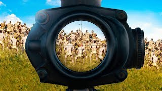 1 SNIPER vs. 999 ZOMBIES!! (PlayerUnknown's BattleGrounds Funny Moments)