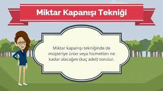 SATIŞ TEKNİKLERİ - Ünite7 Özet - Animasyonlu Anlatım