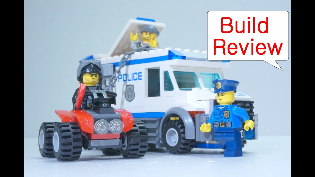 lego police car  prisoner transporter build review youtube