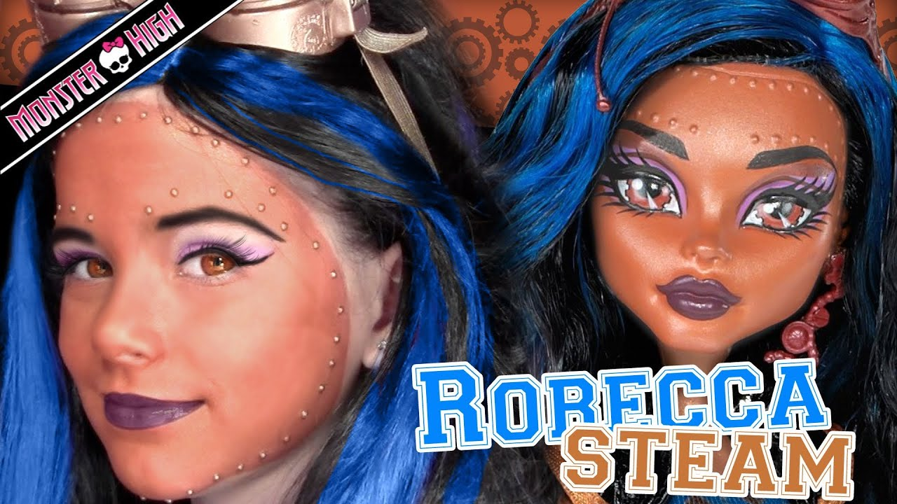 Robecca steam monster high doll costume makeup tutorial for cosplay or halloween youtube - Monster high robecca steam ...