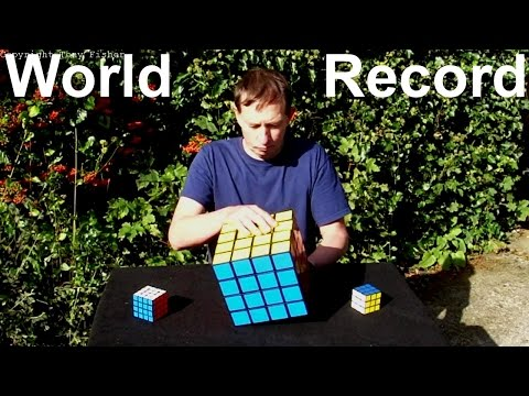 *WORLD RECORD* 4x4x4 Rubik's Cube puzzle -  Largest ever !!!! (made by Tony Fisher)