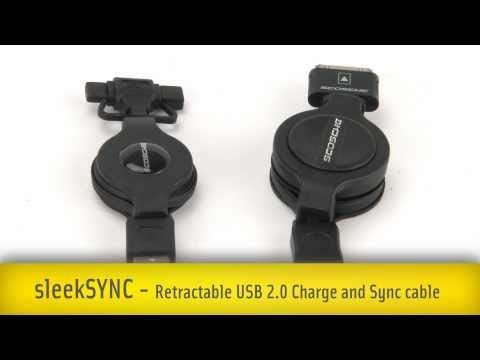 Scosche sleekSYNC Retractable USB 2.0 Charge and Sync Cables
