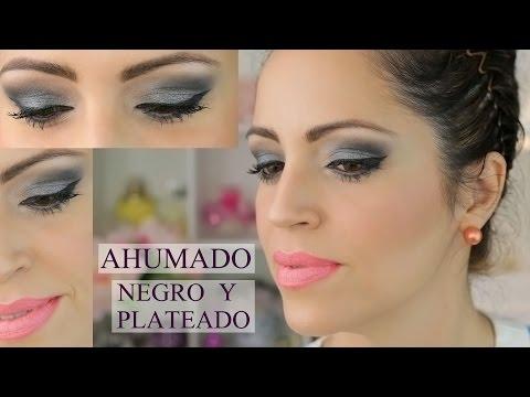 Ahumado de Ojos Negro y Plateado - Maquillaje Sexy y Elegante