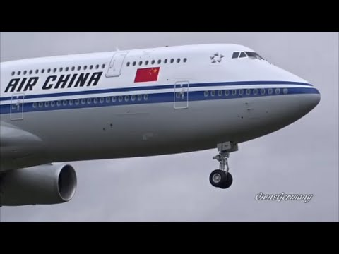 Beautiful Air China Boeing 747-8i Finishes its 2nd Test Flight @ KPAE Paine Field
