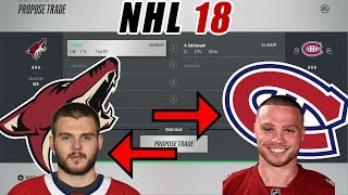 Trade Breakers NHL 18 Trade Simulation. GALCHENYUK FOR DOMI!