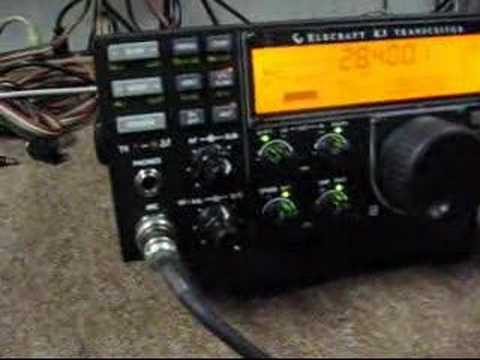 Elecraft K-3 HF Ham Radio Transceiver Demonstrated on 10 Meters