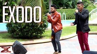 ¡ El dúo Éxodo hacen vibrar !   Casa de Jueces  Factor X Bolivia 2018