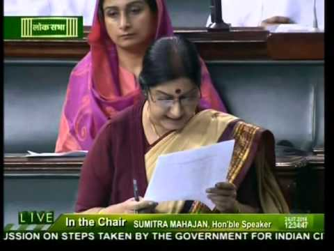 Smt. Sushma Swaraj on step taken by government for Indian citizens stranded in Iraq