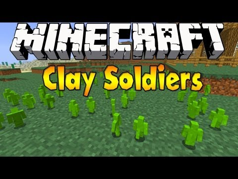 Minecraft 1.6.4 - Clay Soldiers 1.6.4 - Mod Review