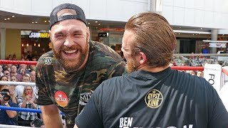 A Heavyweight Sugar Ray Leonard?? TYSON FURY Full Public Workout