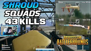 SHROUD, JUST9N AND CHAD - 43 KILLS | PLAYERUNKNOWN'S BATTLEGROUNDS (5/7/18)