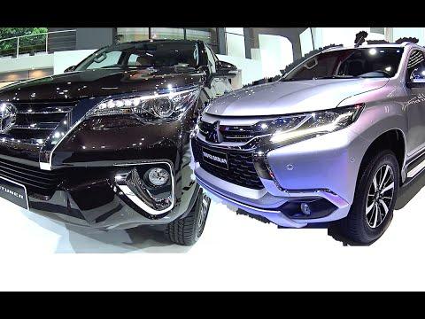 Compare 2016, 2017 SUVs Toyota Fortuner TRD Sportivo VS 2016, 2017  Mitsubishi Pajero Montero Sport