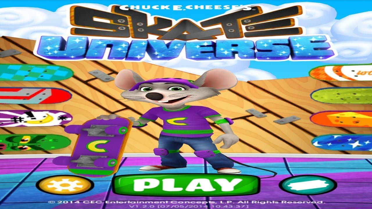 chuck e cheese skateboard game