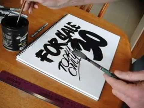 How to do brush lettering example 2.
