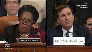 WATCH: Rep. Sheila Jackson Lee's questioning of Democratic counsel | Trump impeachment hearings