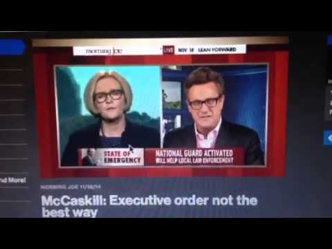 11.18.15: Joe Scarborough Cuts Off Sen. McCaskill When She Mentions Racism