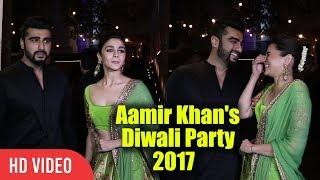 Alia Bhatt And Arjun Kapoor At Aamir Khan's Diwali Party 2017 | Viralbollywood