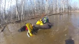 Sunk Can-Am Renegade 1000- Welcome to swampsville!!
