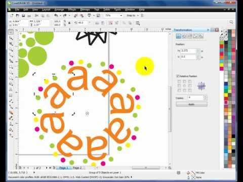 Learn CorelDraw - Tutorial in HINDI -14 - Duplicate & repeat tips