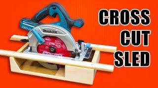 Portable Circular Saw CrossCut Sled: Woodworking Jig