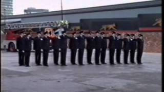 GMC FIRE SERVICE 3/89 COURSE PASSING OUT PARADE Pt 1 of 4