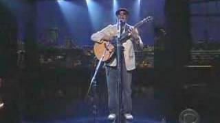 Raul Midón State Of Mind Live On Late Show With Dave Lett