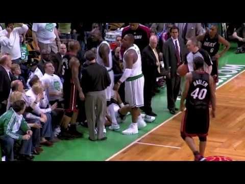 Heat vs. Celtics Brawl..Kevin Garnett Throws Elbow, Paul Pierce Cries 2010 NBA Playoffs Video