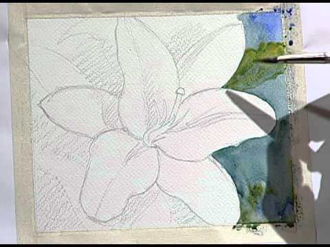 How to paint a beautiful yellow flower 1 como pintar una - Unas modelos para pintar ...
