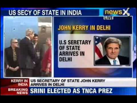 NewsX: John Kerry kick starts 3 day visit to India