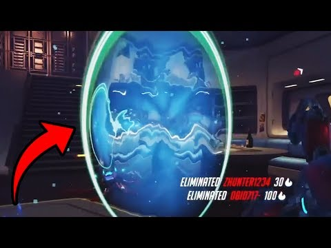 Troll Symmetra Portal Gets POTG - Overwatch Funny Moments 43