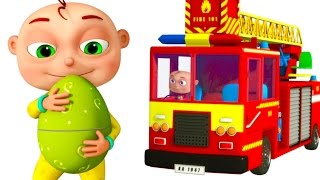 Five Little Babies Driving Transport Vehicles | Surprise Giant Eggs For Kids | Zool Babies