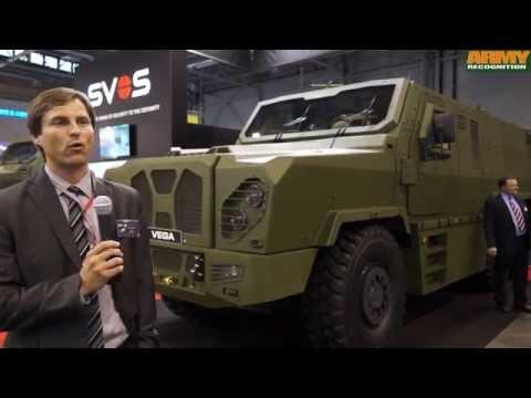 Vega SVOS 6x6 MRAP armoured vehicle personnel carrier IDET 2015 Czech Republic defense industry