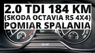 Skoda Octavia RS 4X4 2.0 TDI 184 KM (AT) - pomiar zużycia paliwa