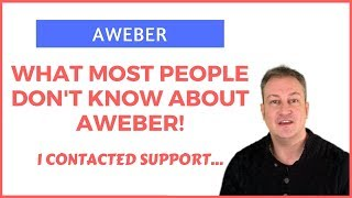 AWEBER – PROOF OF WHAT MOST PEOPLE DON