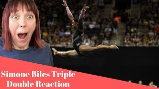 Simone Biles Stuns With New Triple Double REACTION!!!!