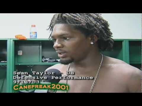 Follow Me on Twitter For all Video Updates: https://twitter.com/Canefreak2001 Tribute to the Late Great Sean Taylor. R.I.P..